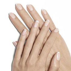 starter wife french manicure by essie - this sheer, soft pastel pink creates a stunning french manicure perfect for your big day.