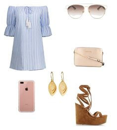 """Gold"" by palomita2906 on Polyvore featuring moda, Gianvito Rossi, Michael Kors, Christian Dior y Belkin"