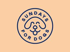 dog logo Sundays for Dogs illustration start up brand identity brand logo line art seal dog food dog badge Pet Branding, Branding Design, Corporate Identity Design, Brochure Design, Logo Animal, Dog Logo Design, Graphic Design, Logo Line, Dog Illustration