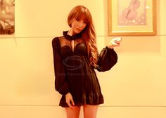 Sexy Stand Neck Long Sleeves Lace Splicing Wrapped Chest Flounce Hem Chiffon Mini Dress For Women (BLACK,ONE SIZE) China Wholesale - Sammydress.com