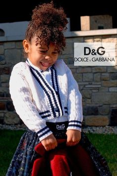 Pretty! Dolce & Gabbana Girls White Blue Knit Cardigan Sweater and Algebra Tulle Skirt. Back to School Look for Fall 2021. Complete the look with a tartan leather school bag, and navy algebra print boots. Shop @ Childrensalon (affiliate). #dolcegabbana #dgkids #backtoschool #childrensalon #dashinfashion Blue Cardigan, Sweater Cardigan, Leather School Bag, Girls Designer Clothes, Girls Special Occasion Dresses, Dolce And Gabbana Kids, Algebra, Stylish Girl, Baby Girls