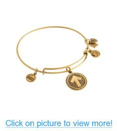Stand Up to Cancer - SU2C Single Gold Bangle Arrow Bracelet by Alex and Ani