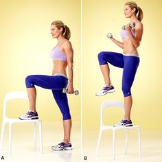 "The 5 Best Strength Moves for Weight Loss: Do this tone-up-all-over strength workout 2–3 times per week, leaving at least a day's rest in between. Each move is a ""compound"" exercise, meaning it targets multiple muscle groups, so you get a really big bang for your strength-training buck! Rest for 30–60 seconds after each set. 