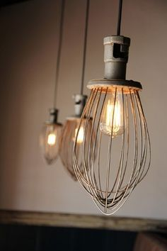 Kitchen Lighting Ideas 30 Adorable Repurposed Kitchen Items - Be creative in your kitchen and repurpose your old kitchen items. Everyone at home have a lot of vintage stuff that are too old to be used. Lamp, Light Up, Hanging Lights, Pendant Light, Diy Lighting, Light, Repurposed Kitchen, Lights, Light Fixtures