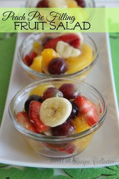 Diary of a Recipe Collector-Peach Pie Filling Fruit Salad