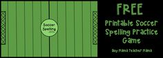 Boy Mama Teacher Mama  FREE Printable Soccer Spelling Practice Game