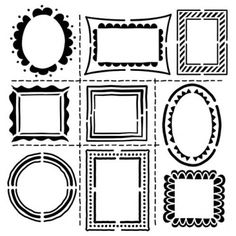 "Love the doodles in this stencil: Crafter's Workshop Template 12""X12""-Hand Drawn Frames TCW-474"