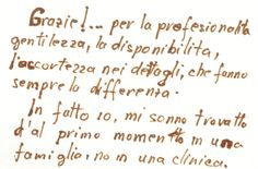 www.clinicabarchitta.it/home Thank you! For your competence, your willingness, for the foresight in the details, that make all the difference. From the forst time i found myself in a family, not in a clinic.