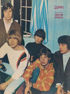 CHARLIE WATTS, BRIAN JONES, KEITH RICHARDS, MICK JAGGER et BILL WYMAN