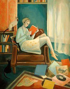 Eleanor war ein Mädchen, das wohnte meist in ihren eigenen Kopf, umgeben von ihrem Lieblings-Dinge und ihren zwei Katzen.    Dieses Bild ist aus