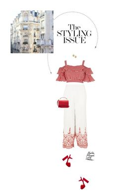 """""""Red & White."""" by xabbielou ❤ liked on Polyvore featuring Topshop, River Island, Prada, Sophie Hulme and GET LOST"""