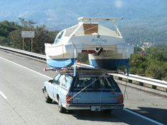 """""""Miss Cindy"""" heading to new horizons. Who said that you cannot cartop a cruising cat…?"""