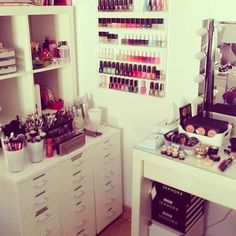 Not sure what i want more, the storage or the make up collection