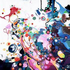 "Saatchi Art Artist Lilla Kuizs; Painting, ""flowers of corruption"" #art"