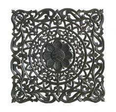 Romantisch wandpaneel 45x45 cm - Zwart