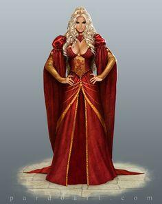 Concept Art - Cersei Lannister by pardoart.deviantart.com on @deviantART #GameOfThrones