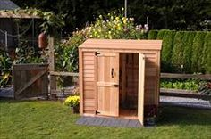 6.5' x 3' Patio Wooden Cedar Shed