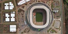 johannesburg south africa soccer city soccer stadium as seen in google satellite maps Google Satellite, Satellite Maps, Soccer City, Soccer Stadium, World Cup Stadiums, Fifa World Cup, South Africa, Street View