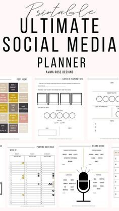 Using this Social Media Planner will increase your productivity and confidence in your small business. Grow your social media accounts more than you could ever imagine! This printable planner has been simply made to help you set your priorities and manage Marketing Logo, Social Marketing, Marketing Services, Influencer Marketing, Digital Marketing Strategy, Inbound Marketing, Affiliate Marketing, Content Marketing, Marketing Ideas