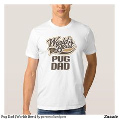 Pug Dad Fathers Day T-shirt