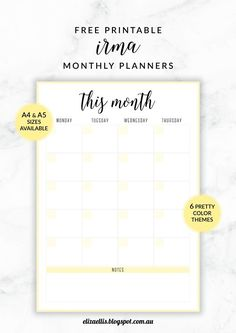 FREE PRINTABLE IRMA MONTHLY PLANNERSYOU MAY ALSO LIKE
