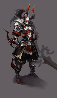 Anthony: I like the look of the armour and the horns of this creature