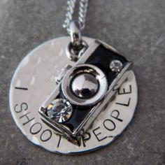 I Shoot People Camera Necklace or Keychain by WireNWhimsy on Etsy, $35.00