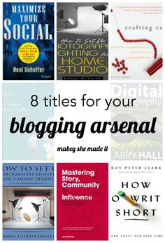 8 books that will help you improve your blogging game from social media to photography to monetization. These references will help you do it all.