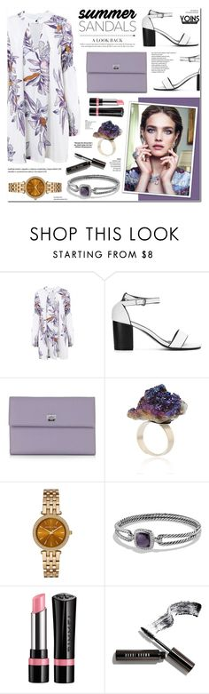 """Yoins 10- Summer Sandals"" by anyasdesigns ❤ liked on Polyvore featuring Pineider, Nico, Michael Kors, David Yurman, Rimmel and Bobbi Brown Cosmetics"