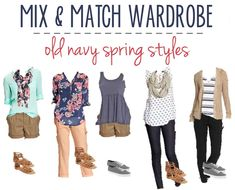 Old Navy Spring Styles | 16 Mix & Match Wardrobe Options | Saving with Shellie™