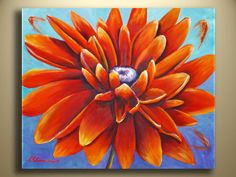 Original Acrylic Painting Sunflower Painting Abstract Modern Contemporary Art Floral Art Gift ideas via Etsy