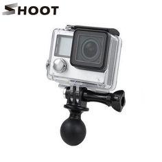 >> Click to Buy << SHOOT Rotating Ball Head Mount for Gopro Hero 5 4 3+ 2 Sjcam SJ4000 SJ5000 Xiaomi Yi 4K Go Pro Accessories Kits #Affiliate
