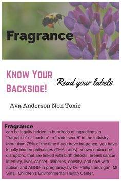 Read your labels. Learn more about what fragrance is and how it can harm you!