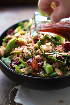 Easy Almond Apple Quinoa Salad