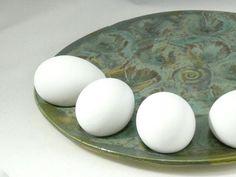 Deviled Egg Plate - Egg holder, oyster platter, appetizer tray, serving plate, - Mother's Day Gift, Wedding Couple Gift,