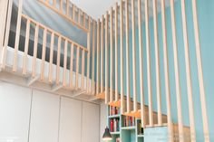 Room with a view, Custom Joinery, Staircase, Small spaces, Realization WOM Design – Stéphanie Michel-Girard – House Side Source by smichelgirard Attic Bedrooms, Small Room Bedroom, House Stairs, House Beds, Under Stairs Cupboard, Bohemian Living Rooms, Modern Staircase, Spiral Staircases, Staircase Design