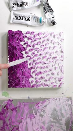Art Thick Acrylic Ombre Painting by Josie Lewis Acrylic Painting Acrylic acrylic painting Art Josie Lewis Ombre Painting Thick Acrylic Pouring Art, Acrylic Art, Diy Canvas Art, Textured Canvas Art, Diy Painting, Painting Videos, 3d Painting On Canvas, Easy Painting Projects, Acrylic Painting Inspiration