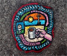 British artist Ben Wilson uses discarded chewing gum blobs on pavement as canvasses for his tiny paintings. Over the past six years, Wilson has created Banksy, Ben Wilson, Art Environnemental, Chewing Gum, Outsider Art, Pavement, Make Art, Ny Times, Oeuvre D'art