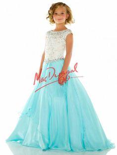 Sky Blue Little Girls Dress | Pageant Gown | Mac Duggal 82472S