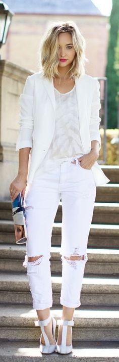 Everything White Casual Outfit by Late Afternoon