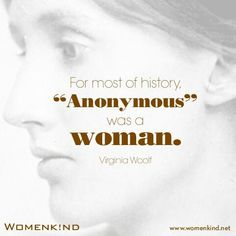We would venture to guess than Anonymous, who wrote so many beautiful poems and article without signing them, was often a woman.