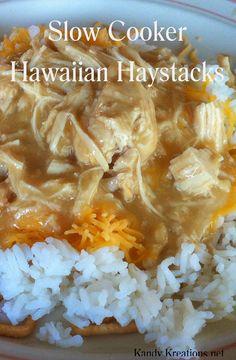 Slow Cooker Hawaiian Haystacks Recipe by Kandy Kreations