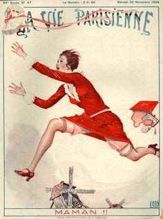 Georges Léonnec (1881 – 1940). La Vie Parisienne, 20 Novembre 1926. [Pinned 6-ii-2015]