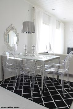 Black&White Dining Space - Home White Home -blog