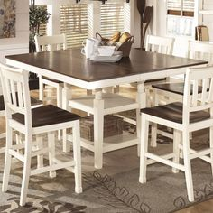 Transitional Breakfast Room With Bar Height Table  White Dining Fascinating Height Dining Room Table Inspiration