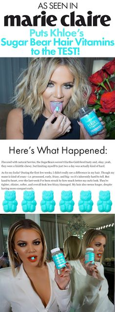Both Marie Claire and The Kardashians recommending a hair vitamin that tastes like candy? I definitely want some of that. I've already ordered mine, can't wait to try them out, and see the results!!