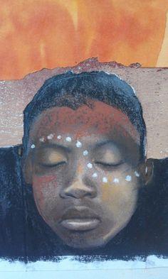 African Girl Best Friend Gift ART PRINT Teachers by AlidaBothmaArt