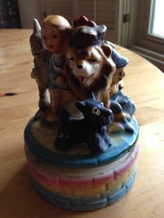 VINTAGE 1950s-1960s WIZARD OF OZ MUSIC BOX SOMEWHERE OVER THE RAINBOW SONG JAPA