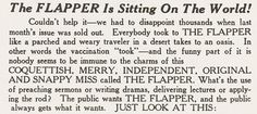 definition from the Flapper magazine (Chicago, 20's)