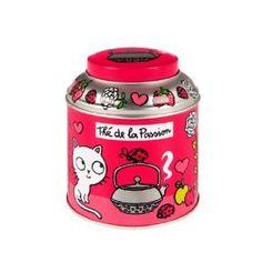 Boite à thé Derrière la porte (passion rose): Amazon.fr: Cuisine & Maison